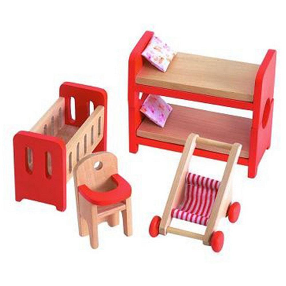 Дървена детска играчка спалня